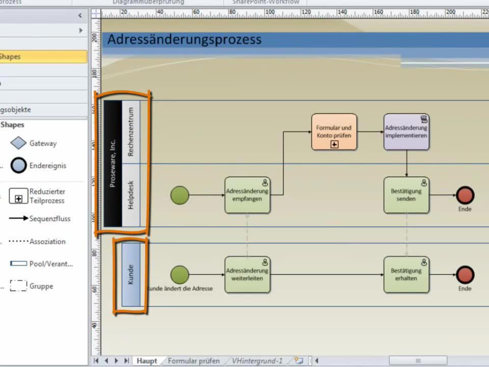 Video: BPMN-Erstellen von Diagrammen Grundlagen - Office-Support