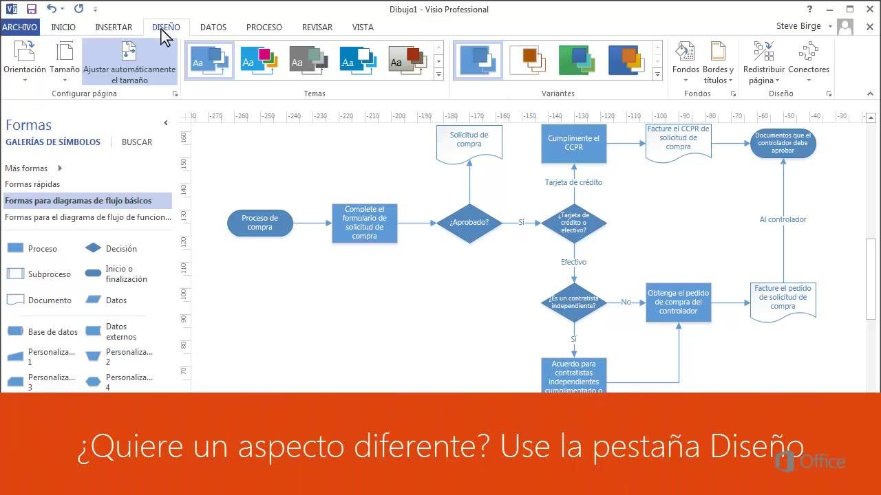 Crear Un Diagrama De Flujo De Visio Para Visualizar Un Proceso