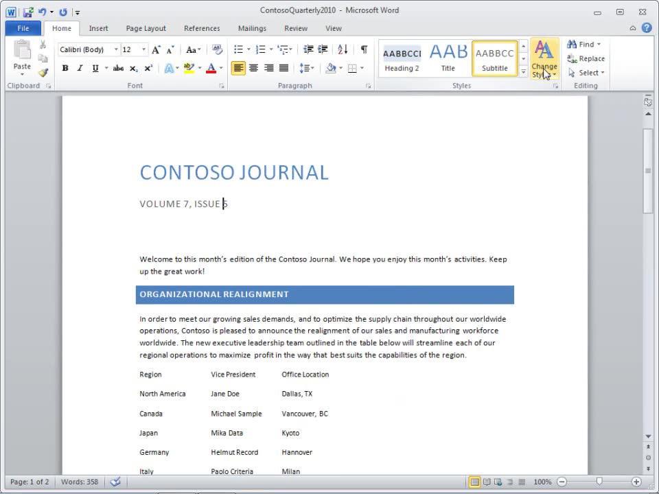 Novedades de Word 2010 para actualizaciones de Word 2003 - Word