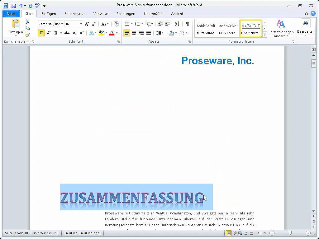 Fantastisch Microsoft Word Gliederungsvorlage Galerie - Entry Level ...
