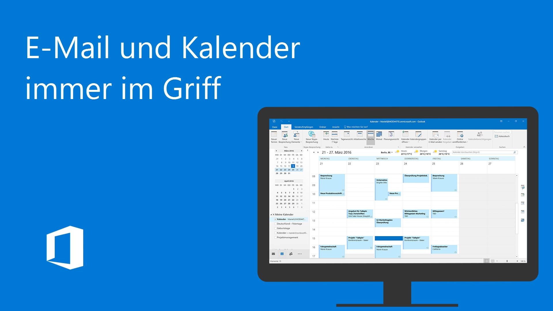 Video: E-Mail und Kalender immer im Griff - Office-Support