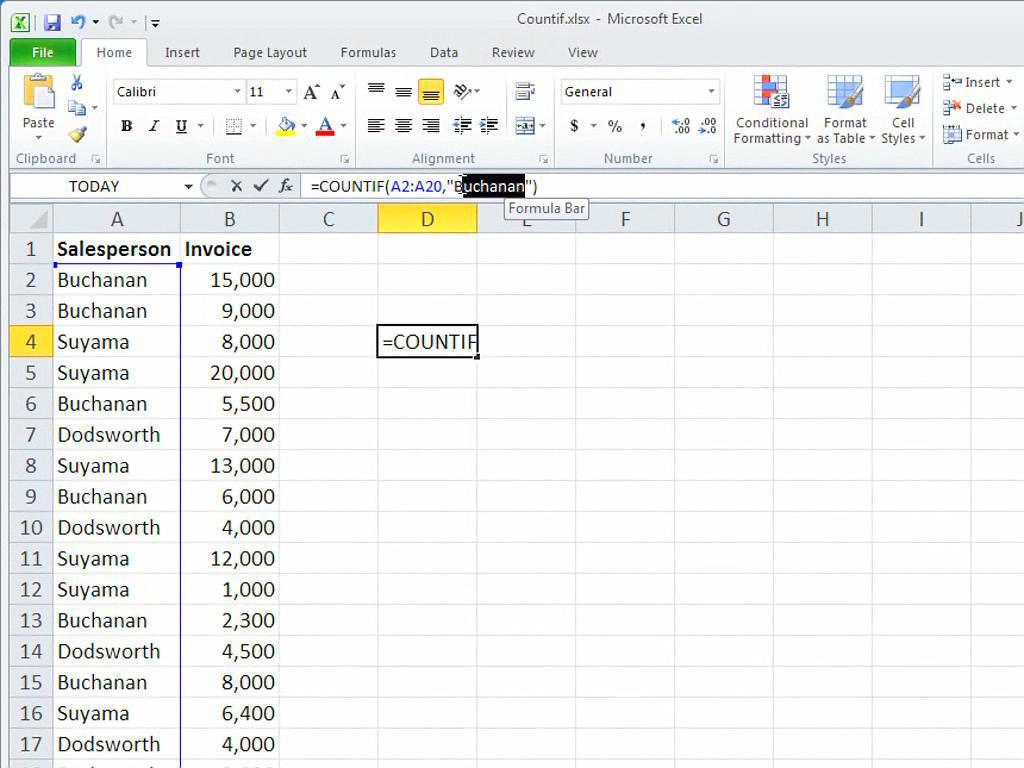 ZÄHLENWENN (Funktion) - Office-Support