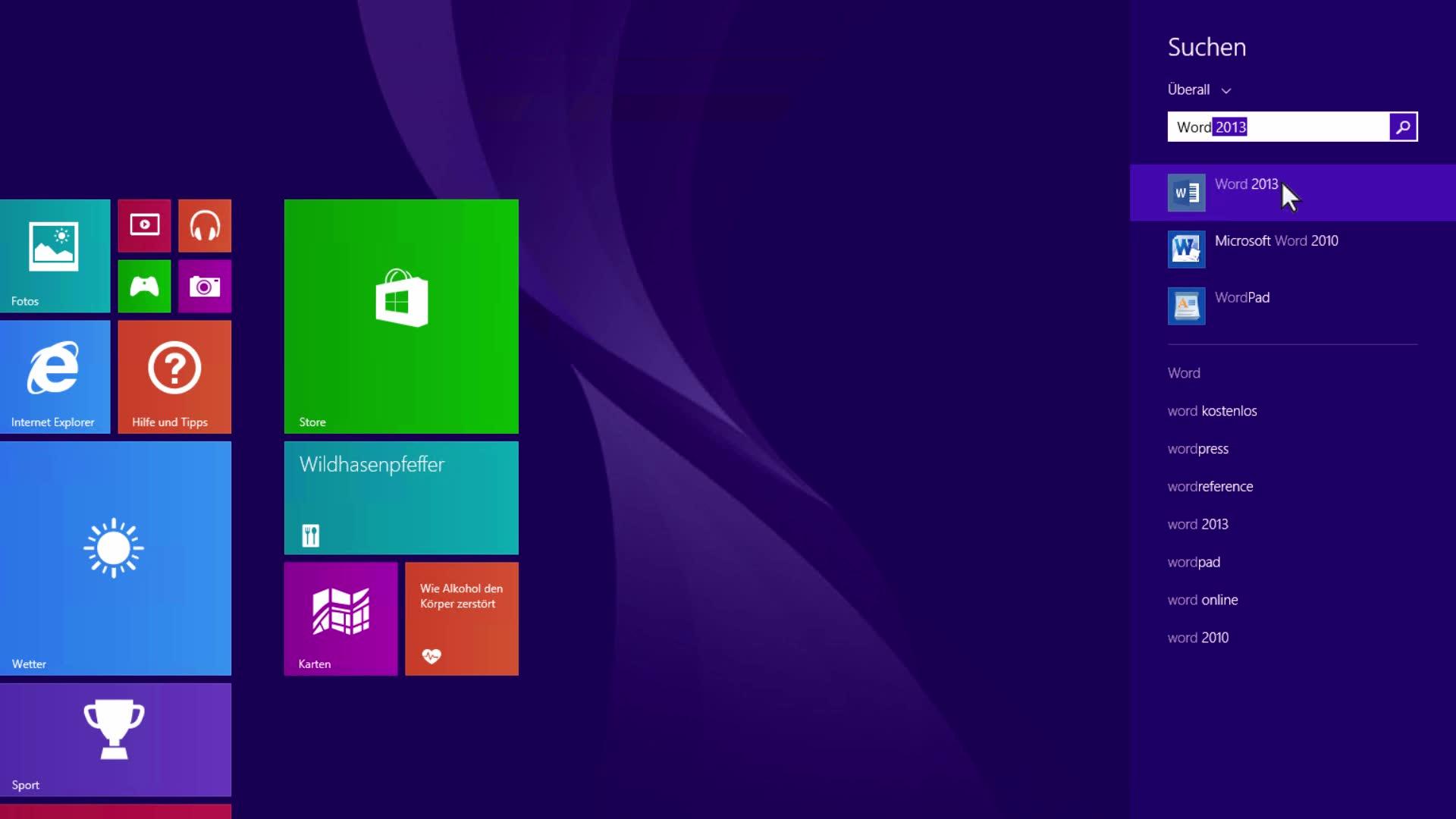 Können Sie die Office-Anwendungen unter Windows 10, Windows 8 oder ...