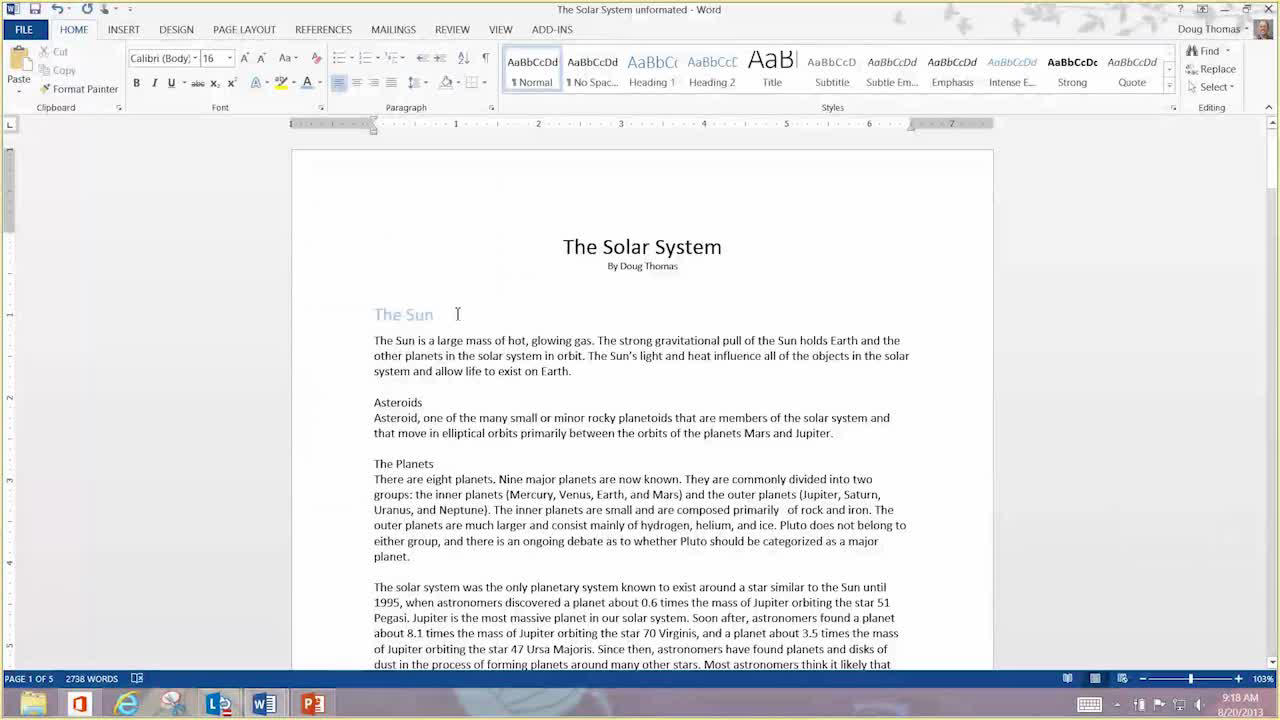 Thesis Examples For Essays  Proposal For An Essay also Thesis In A Essay Video Using Styles In Word  Word How To Write Essay Proposal