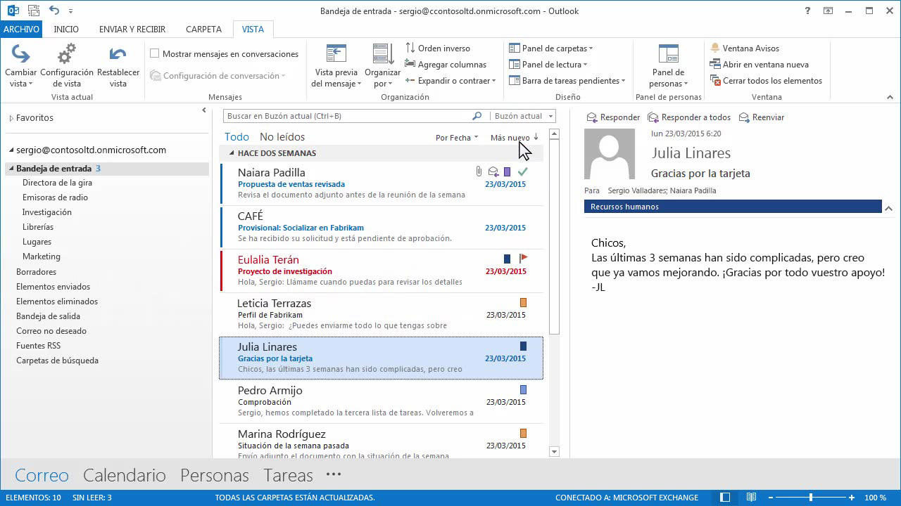 Video: Group and view email in your inbox - Soporte de Office