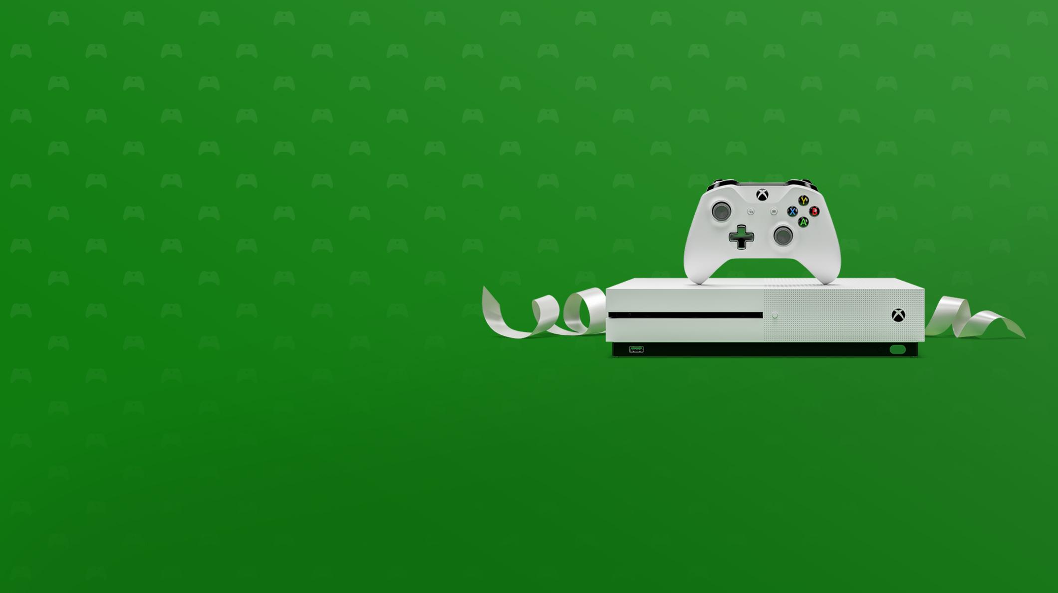 一台 Xbox One S 和控制器