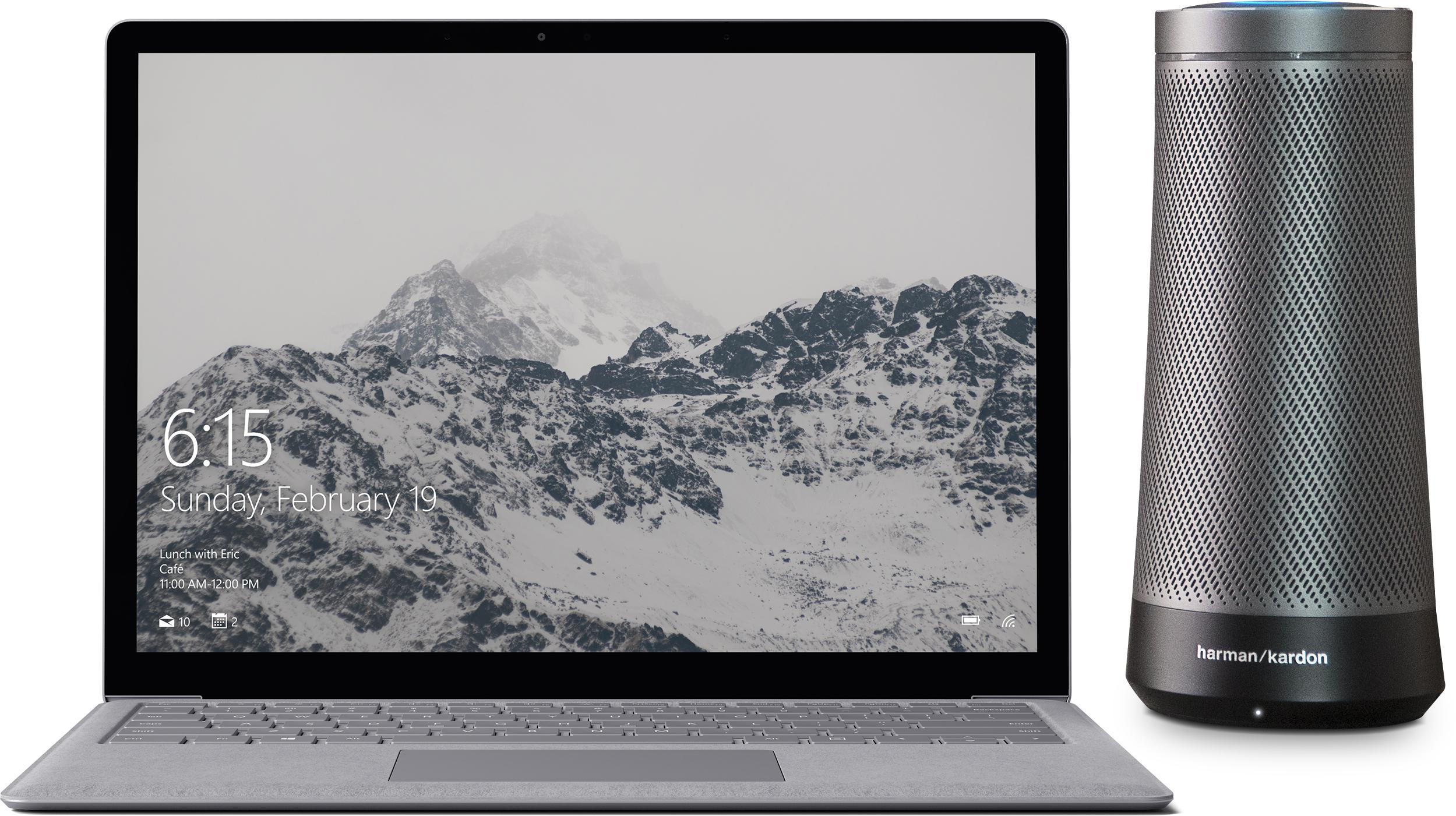 Surface Laptop + Harman Kardon Invoke Speaker