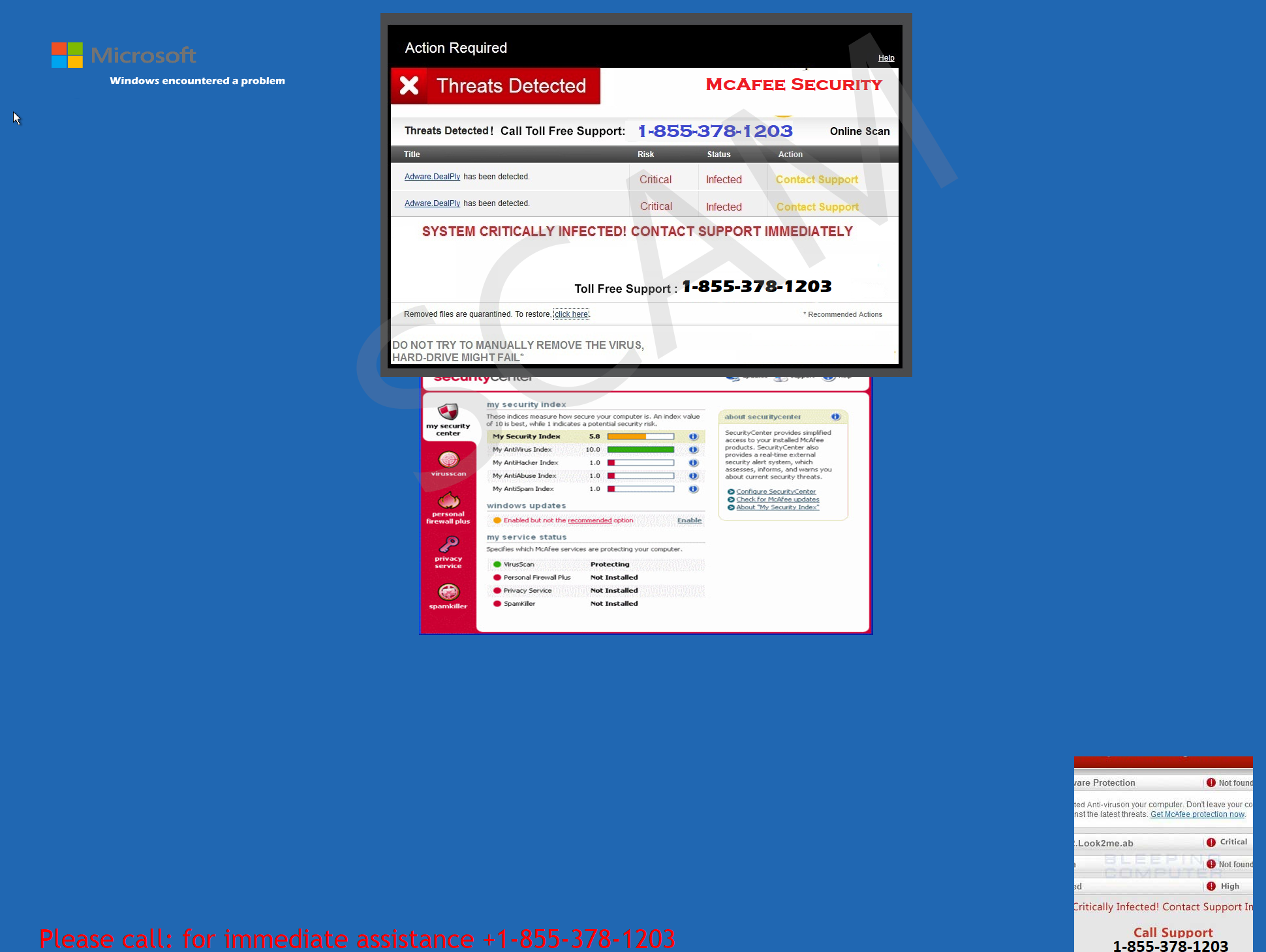 Threats Detected McAfee Security Online Scan