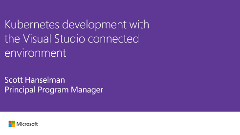 Image thumbnail for Kubernetes development with Visual Studio Connected Environment video