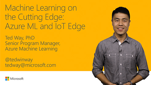 Image thumbnail for Machine Learning on the cutting edge: Azure ML and IoT Edge video