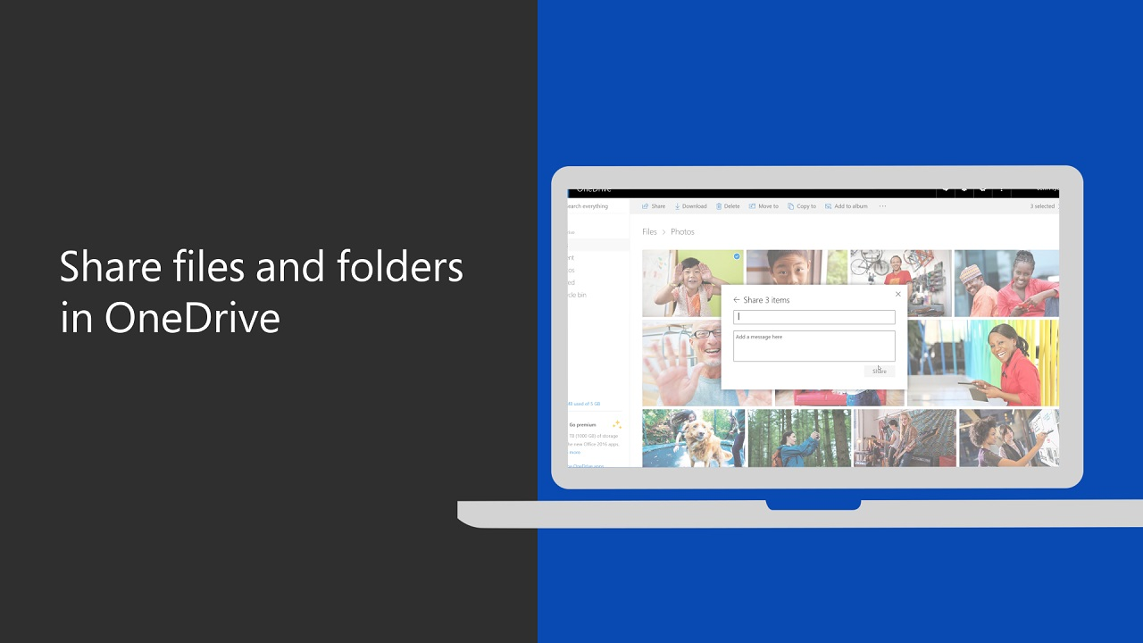 Share files and folders in OneDrive