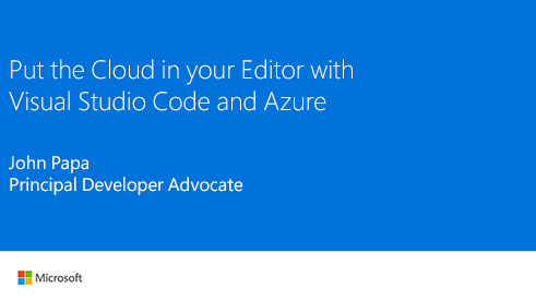 Image thumbnail for Cloud development with Visual Studio Code and Azure video