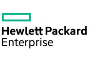 Hewlett Packard Enterprise logo.
