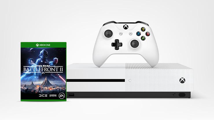 Pack Xbox One S et jeu Star Wars BattlefrontII