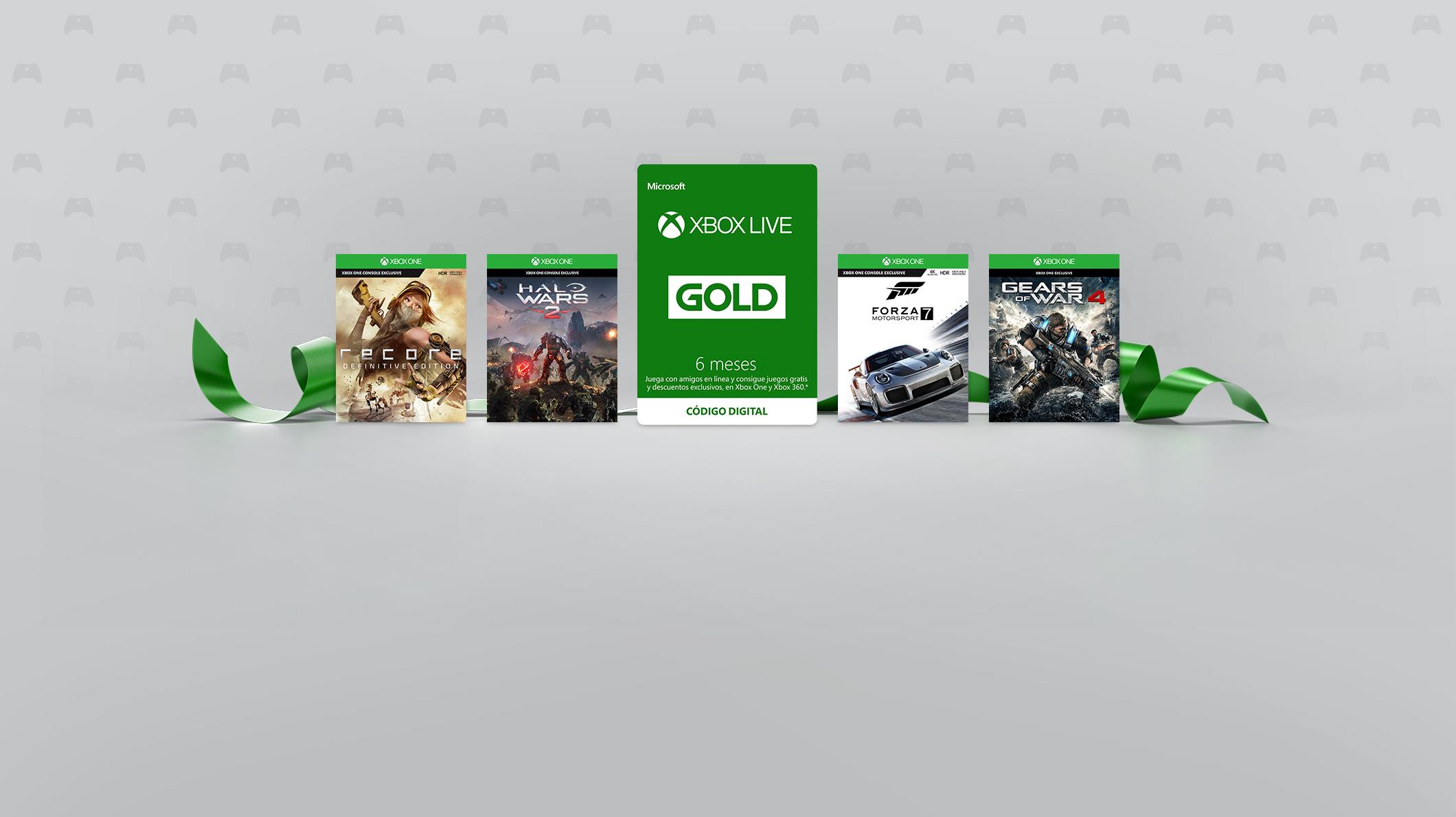 Xbox Live Gold de 3 meses y 6 meses