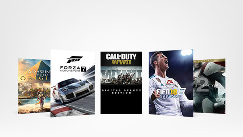 Xbox Games: Call of Duty WWII, Forza 7 Motorsport, FIFA18, Destiny 2, Assassin's Creed: Origins