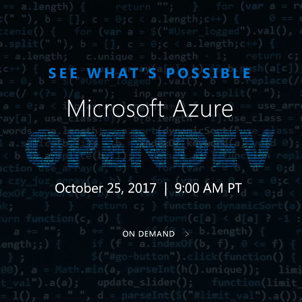 Microsoft Azure OpenDev On Demand
