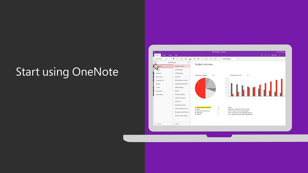 Basic Tasks In Onenote For Windows 10 Office Support You Can Also Download The Instructions As A Pdf Document Hummingbird