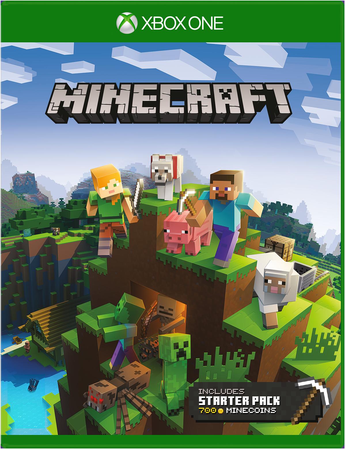 Spelet Minecraft Starter Collection för Xbox One