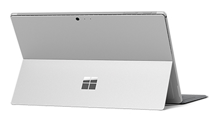 back of the Surface pro
