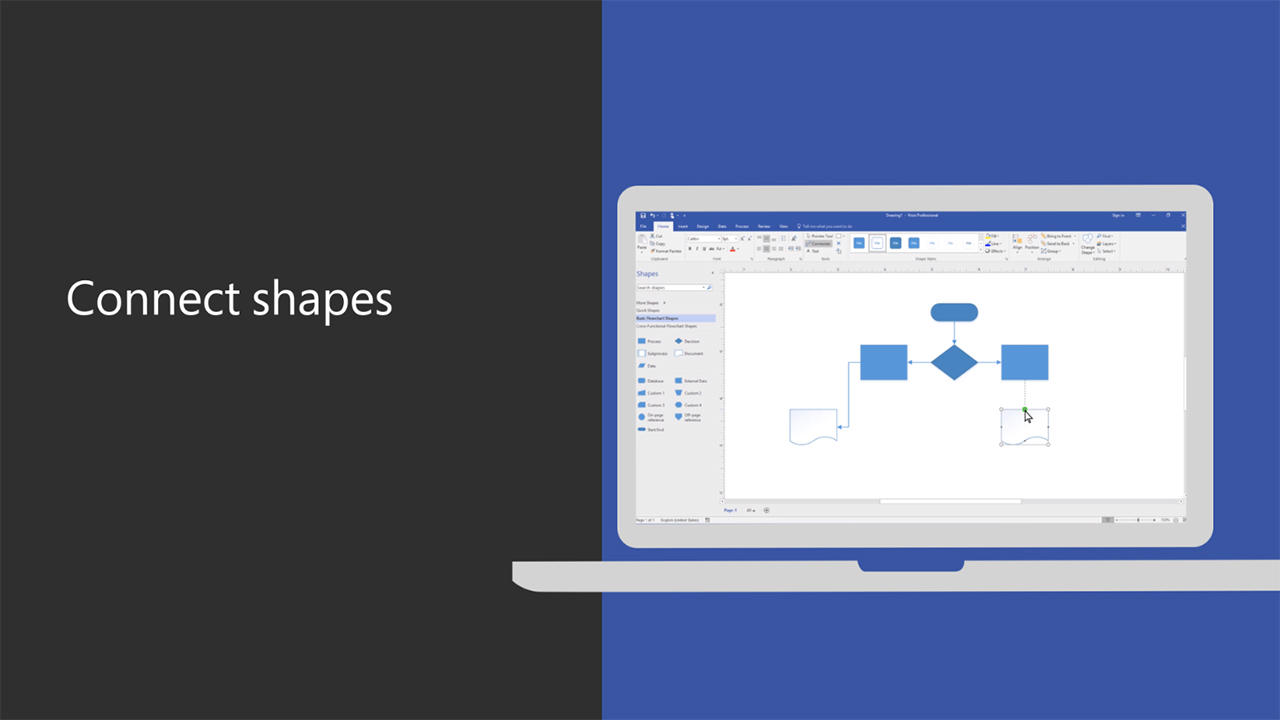 Visio - Connect Shapes