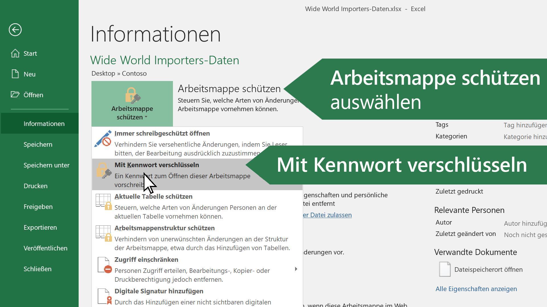 Video: Passwort-geschützte Arbeitsmappen - Excel