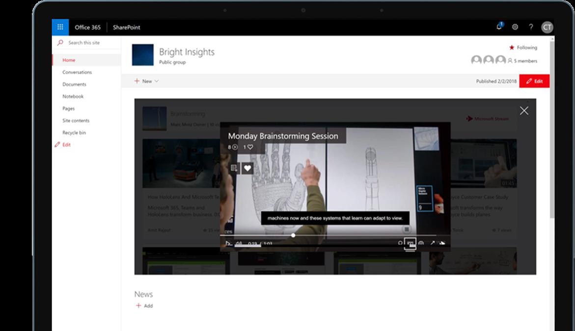 Microsoft Stream – Video Streaming Service
