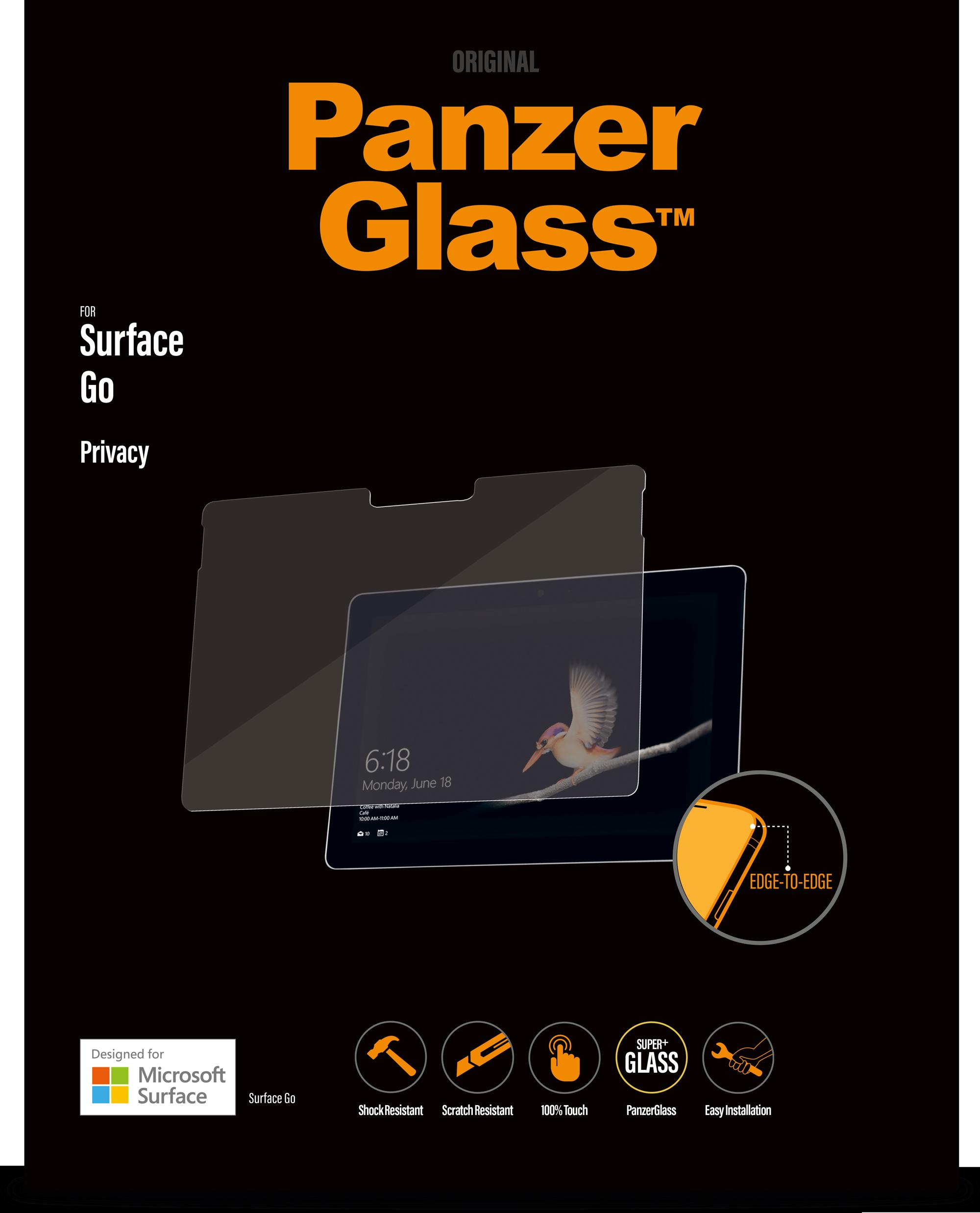 Protector de pantalla PanzerGlass con filtro de privacidad para Surface Go