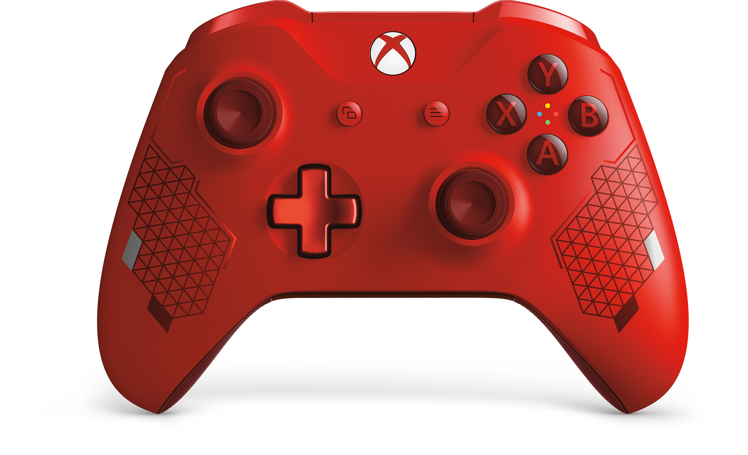 Front view of the Xbox One Wireless Controller Sport Red Special Edition