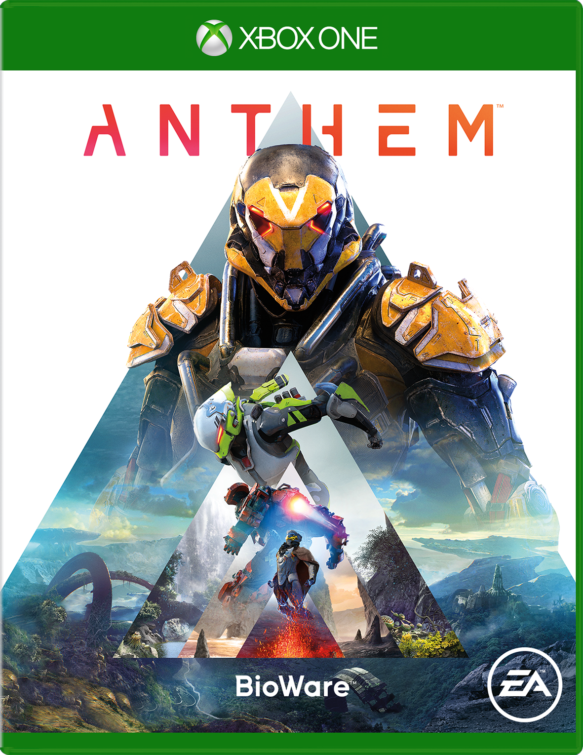 Anthem for Xbox One game box
