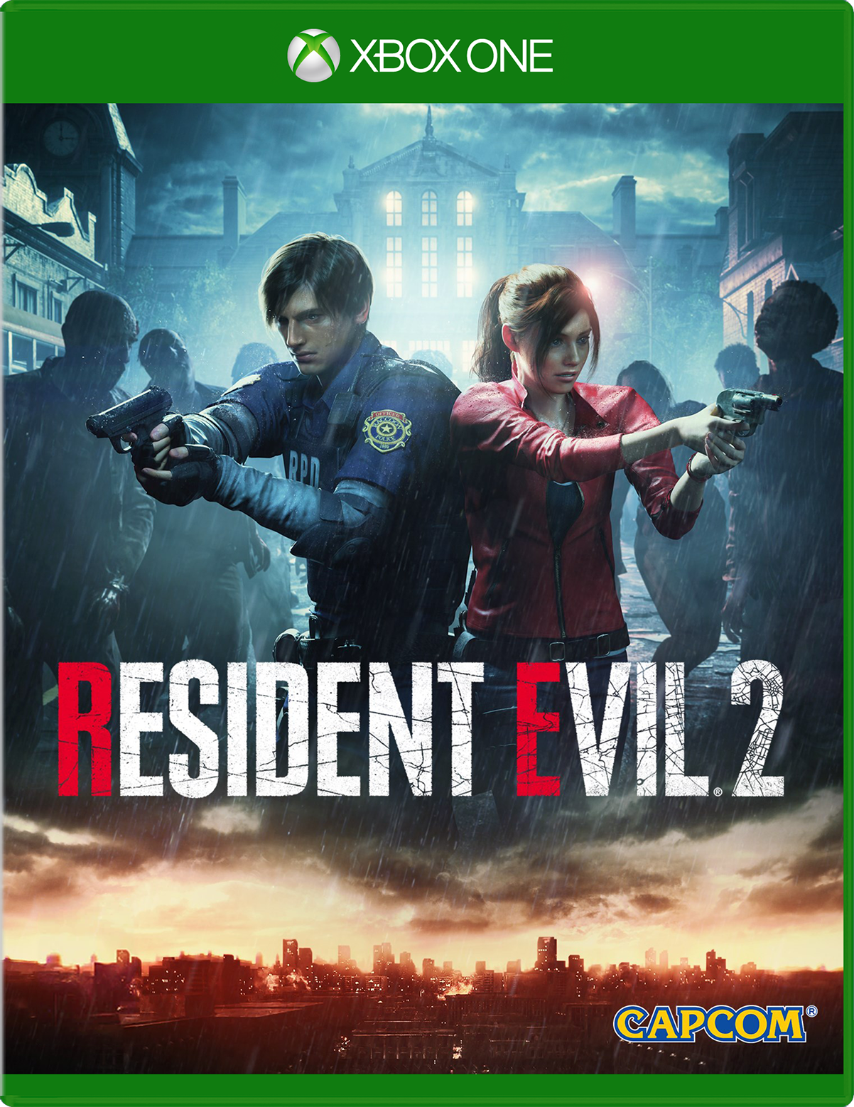 Resident Evil 2 for Xbox One game box