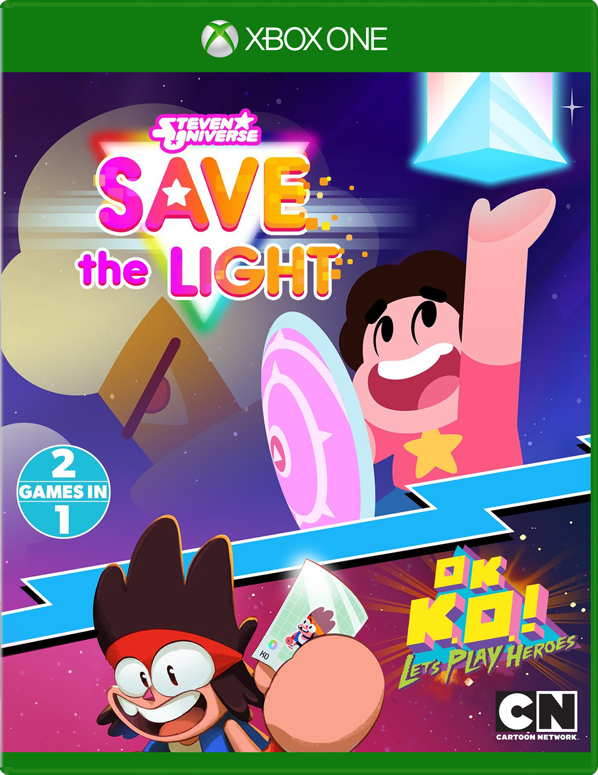 Box cover for Steven Universe Save the Light and Ok KO