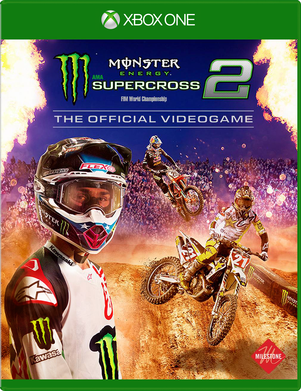 Game cover for Square Enix Monster Energy Supercross - The Official Videogame 2 Xbox One