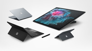 Surface Laptop 2, Surface Book 2, Surface Pro 6, Surface Go