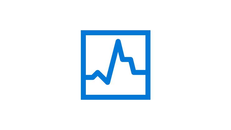 Un graphique linéaire indiquant la vitesse et la performance