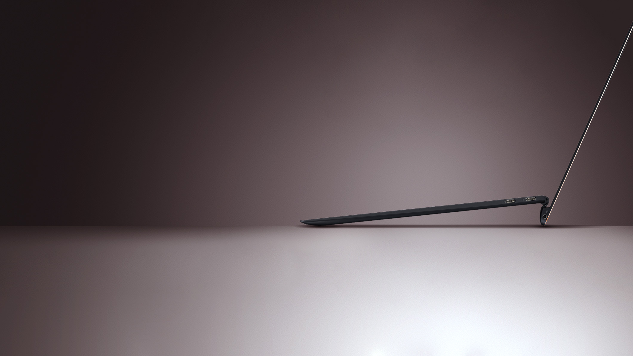 Side view of the ASUS ZenBook S UX391UA