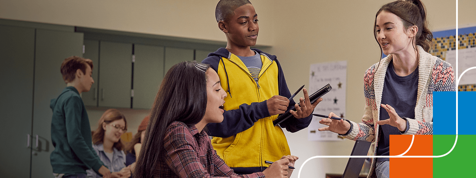 Schüler in der digitalen Schule