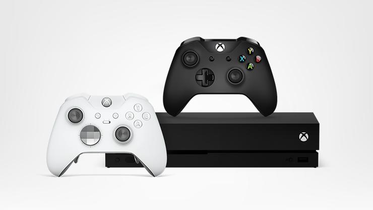 Consola Xbox One e controlos