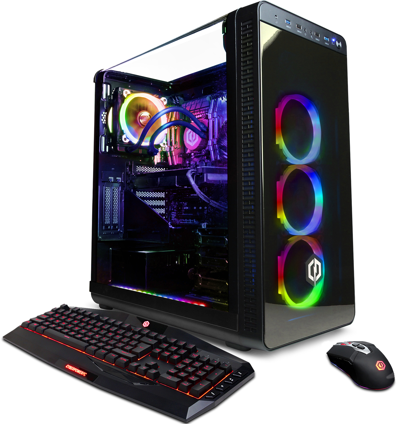 CyberPowerPC Gamer Supreme Liquid Cool SLC3800MST Gaming PC