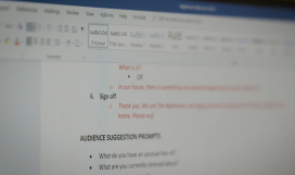 A computer screen showing Microsoft Word