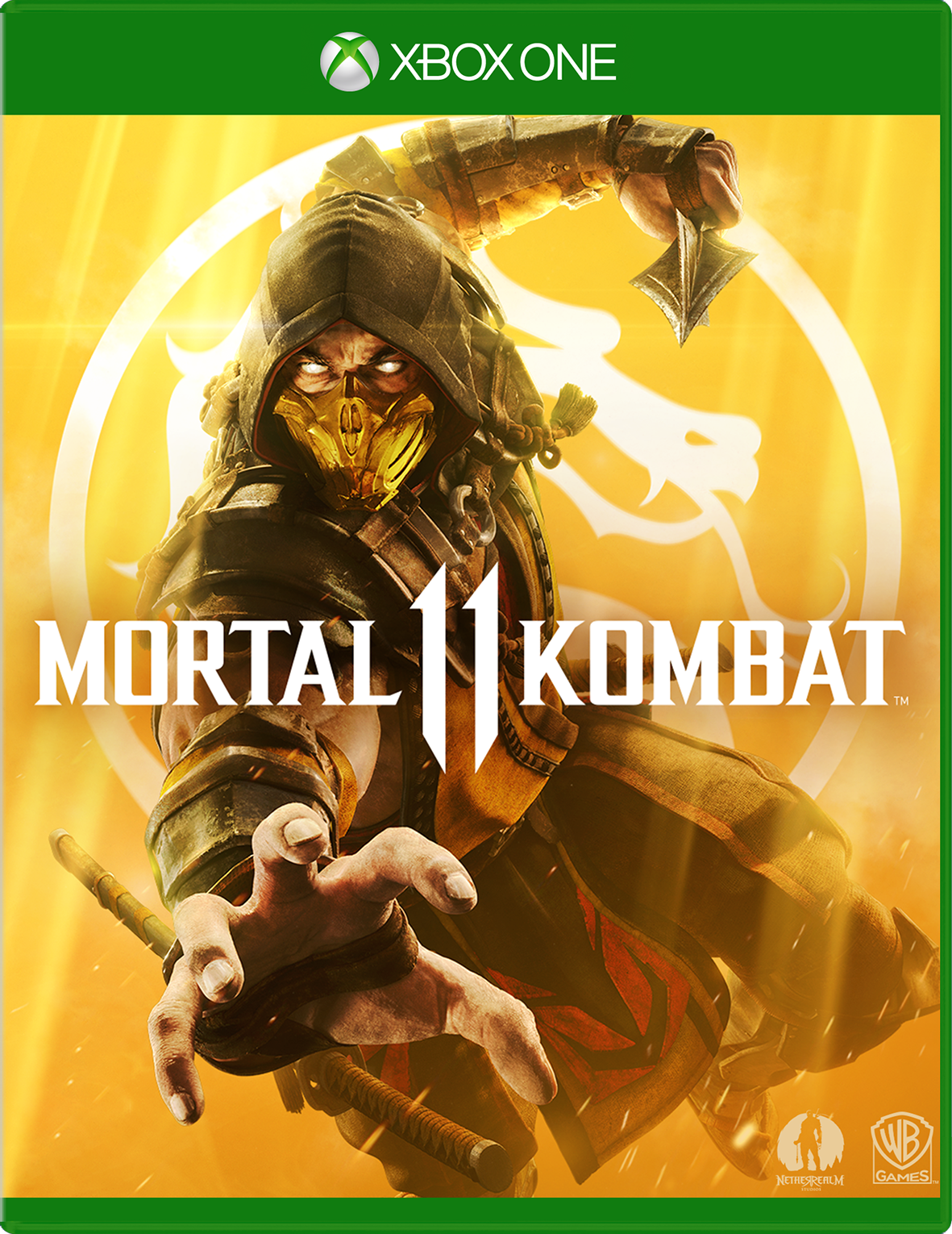 Mortal Kombat 11 game box for Xbox One