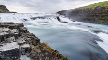 River water rushing over rocks.