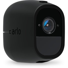 Front Left View of the Arlo Pro & Pro 2 Skins Black without Hood