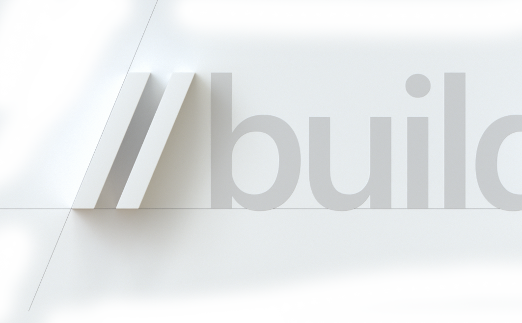 Partially visible image of the new Build 2019 event, showing BUI