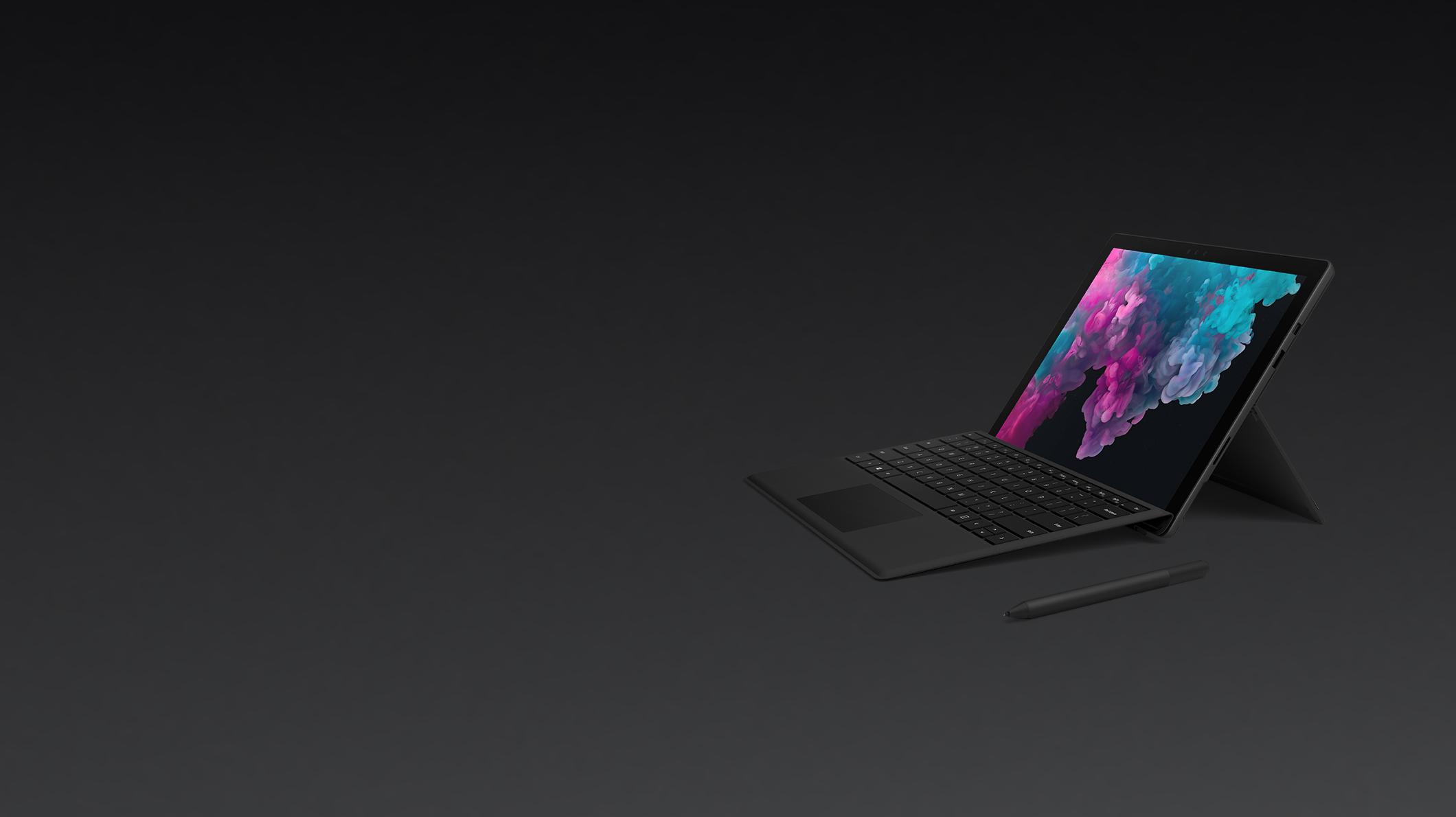 Surface Pro 6, Surface Pro Type cover (Black), Surface Pen (Black)