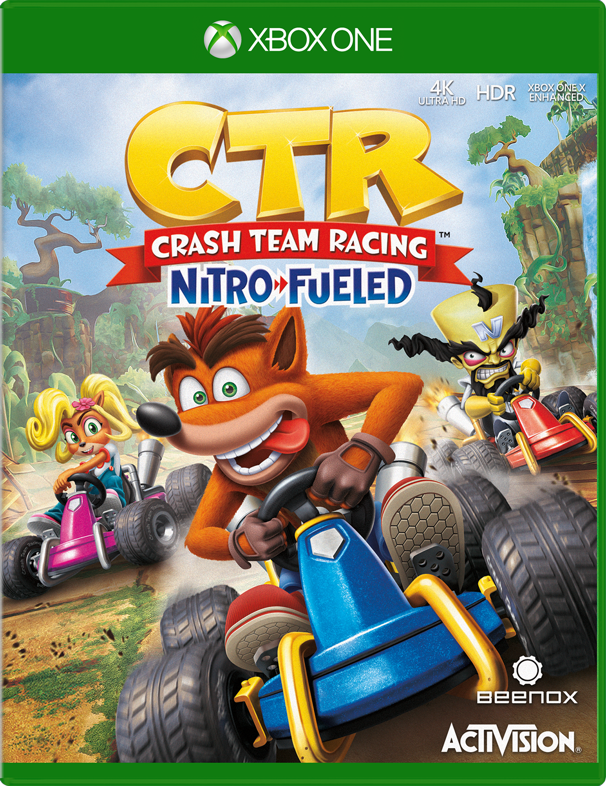 Crash Team Racing: Nitro Fueled for Xbox One game box