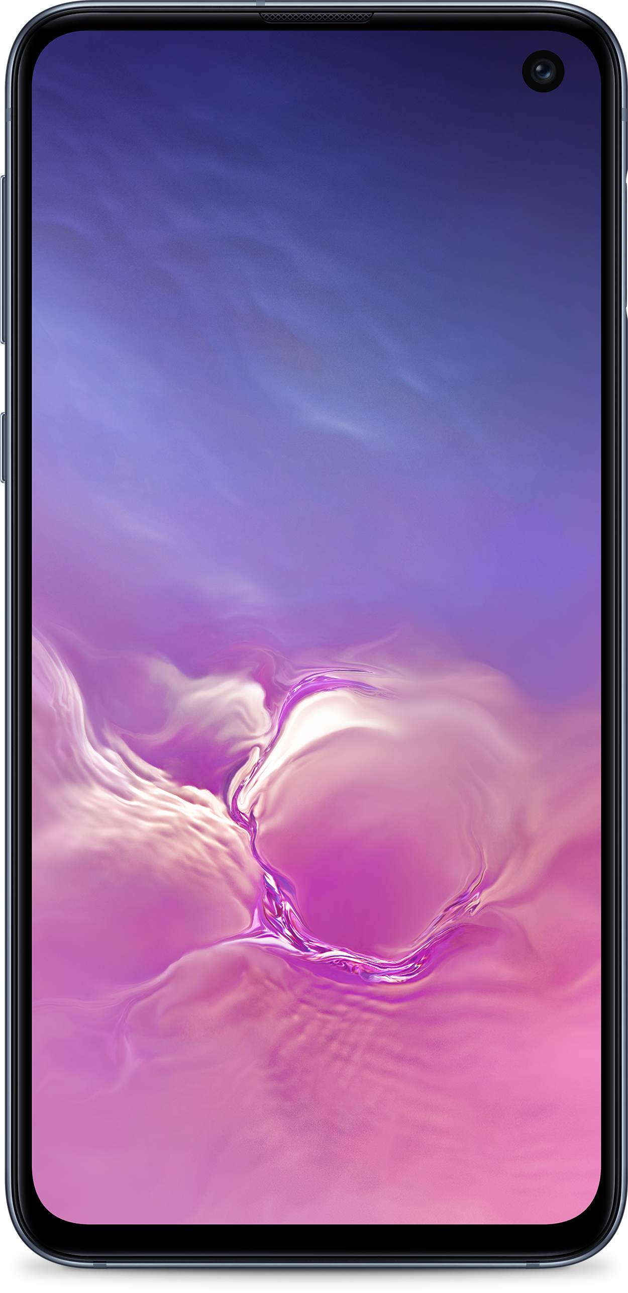 Samsung Galaxy S10e in Black from the front