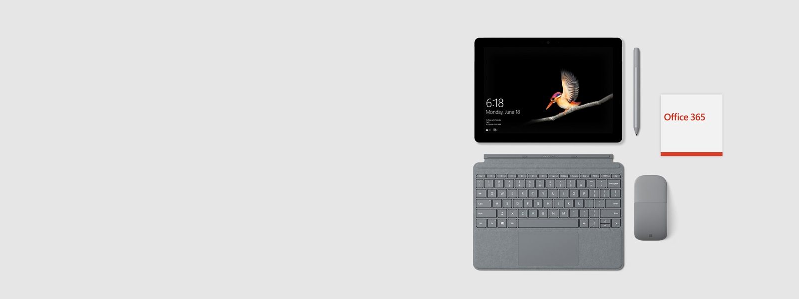 Surface Go +Type Cover + Office 365 + Surface Pen + Surface Arc Mouse
