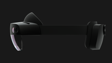 Side angle view of the HoloLens 2 headset