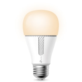 Front view of Kasa Smart Light Bulb with dim light